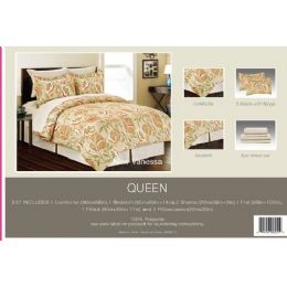 4 Units of Manhattan Light Collection 8 Piece Printed Bed In A Bag - Blankets & Bedding