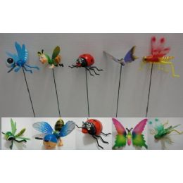48 Units of Small Yard Stake [Bug/Bee/Fly Assortment] - Garden Decor