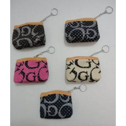 """144 Units of Zippered Change PursE--""""g"""" With Studs - Leather Purses and Handbags"""