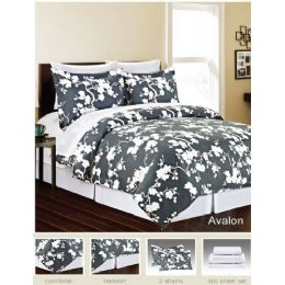 4 Units of Manhattan Lights 8 Piece Bed N Bag King Size - Comforters & Bed Sets
