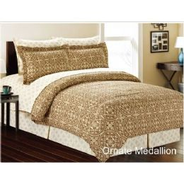 4 Units of Manhattan Lights 8 Piece Bed N Bag King Size - Blankets & Bedding