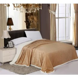 6 Units of Sherpa & Velboa Carved Reversible Blanket King - Blankets & Bedding