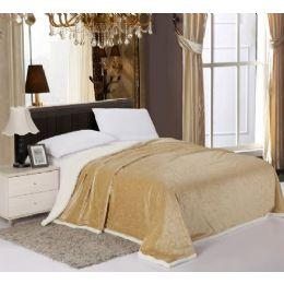 6 Units of Sherpa & Velboa Carved Reversible Blanket King - Comforters & Bed Sets