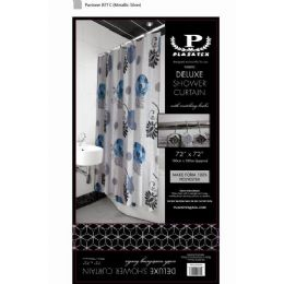 12 Units of black blue and white deluxe shower curtain - Shower Curtain