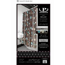 12 Units of brown circles deluxe shower curtain - Shower Curtain