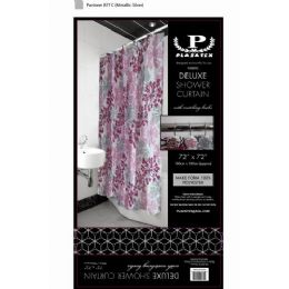 12 Units of pink silver burst deluxe shower curtain - Shower Curtain