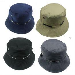 36 Units of Kids Plain Color Summer Hat - Sun Hats