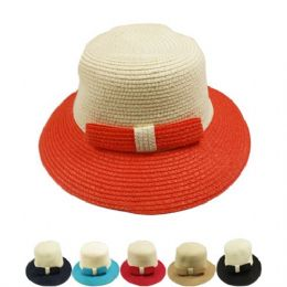 36 Units of Ladies Bucket Hat With Color - Sun Hats