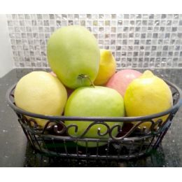 12 Units of Wholesale Black Metal Fruit Basket - Baskets