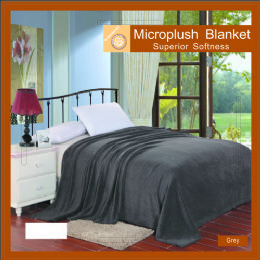12 Units of Solid Gray Microplush Blanket In Queen - Micro Plush Blankets