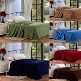 12 Units of Assorted Solid Colors Microplush Blanket In Twin - Micro Plush Blankets