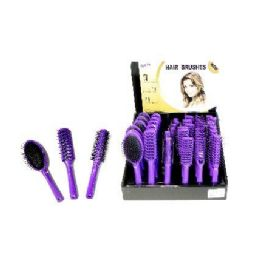 72 Units of Wholesale Hair Brush Assortment on Counter Display - Hair Brushes & Combs