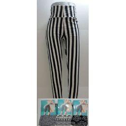 48 Units of AnklE-Length Leggings *black & White Assortment - Womens Leggings