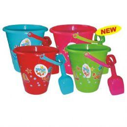 72 Units of Beach Bucket 1.25L Set - Beach Toys