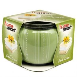 60 Units of Home Smart Globe Candle 3oz Fresh Linen - Candles & Accessories