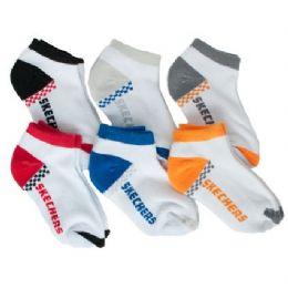 72 Units of Infant Boys or Girls Sketchers 6 Pack Ankle Socks Size - Boys Ankle Sock