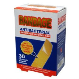 96 Units of Bandage 30CT Antibacterial - Bandages and Support Wraps