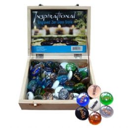 72 Units of Engraved Inspiration Bead Words - Rocks, Stones & Sand