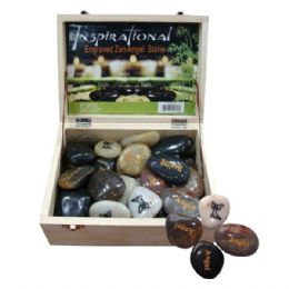 72 Units of Engraved Inspiration Stone Angels - Rocks, Stones & Sand