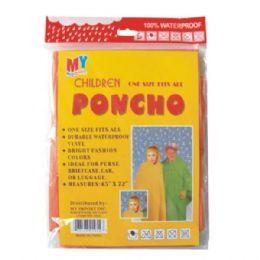 96 Units of Kids Poncho - Umbrellas & Rain Gear