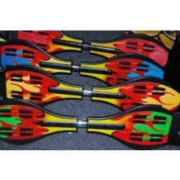 4 Units of Flame Skateboard Rip Sticks Waveboard - Novelty Toys