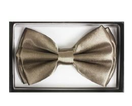 72 Units of Dark Cream Bow Tie 017 - Neckties