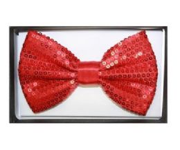 48 Units of Red Sequin Bow Tie 020 - Neckties