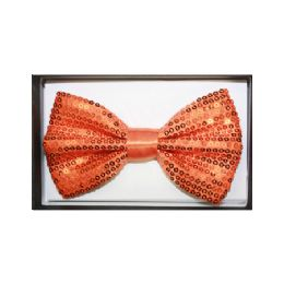 48 Units of Orange Sequin Bow Tie 024 - Neckties