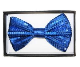 48 Units of Blue Sequin Bow Tie 028 - Neckties