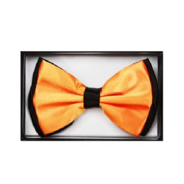 48 Units of Orange and Black Bow Tie 031 - Neckties