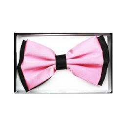 48 Units of Pink and Black Bow Tie 032 - Neckties
