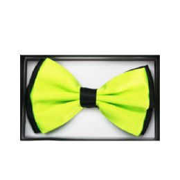 48 Units of Two Tone Lime Green Bow Tie 034 - Neckties
