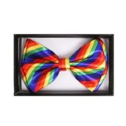 48 Units of Colorful Stripe Bow Tie - Neckties