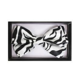 48 Units of BOWTIE 077 WHITE ZEBRA - Neckties