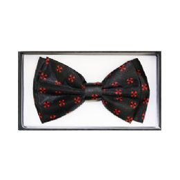48 Units of Black & Red Bow Tie - Neckties