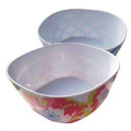 144 Units of Bowl Square Printed 6in - Plastic Bowls and Plates