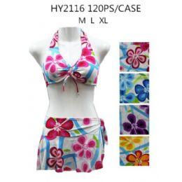 60 Units of Ladies 2Pc Swim Set - Womens Swimwear