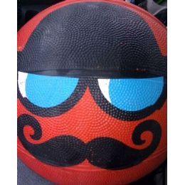 25 Units of Standard size Basketball With An Novilty Mustache - Balls