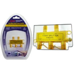 96 Units of 4-WAY GOLD PLATED SPLITTER - Cables and Wires