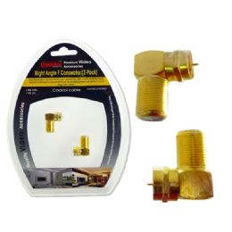 96 Units of RIGHT ANGLE F CONNECTOR 2 PCS - Cables and Wires