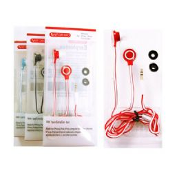 144 Units of EARPHONE 1.2M. BLUE, RED, BLACK, PURPLE CLR PACKING: - Headphones and Earbuds
