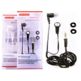 144 Units of EARPHONE 1.2M. BLACK, WHITE CLR PACKING: 1/PC - Headphones and Earbuds