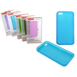 "144 Units of IPHONE 5 TPU COVER 2.4"" X5"" CLEAR BLACK,BLUE,WHITE,PURPLE - Cell Phone & Tablet Cases"