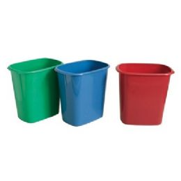"48 Units of Rectangle Trash Can 10.75""x7.25""x10.75""t - Waste Basket"