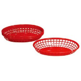 "48 Units of 4 Pack Oval Baskets 9""x5.625""x2"" - Baskets"