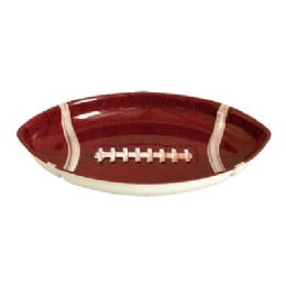 48 Units of Football Oval Tray - Plastic Tableware