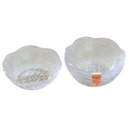 """48 Units of 4 Pack Scalloped Edge Bowl 5"""" - Plastic Bowls and Plates"""