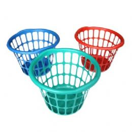 """48 Units of Round Laundry Basket 15.75""""diameter.x12""""height - Laundry  Supplies"""