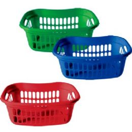 "24 Units of Jumbo Rectangle Laundry Basket 23.5""x15.25""x9.5"" - Waste Basket"