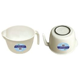 48 Units of 3QT Mixing Bowl With Non slip Bottom - Plastic Bowls and Plates